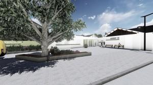 Entrada principal del futur Centre de Dia Montserrat