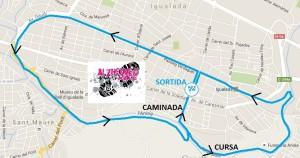 Plànol de la cursa i caminada Alzheimer Race